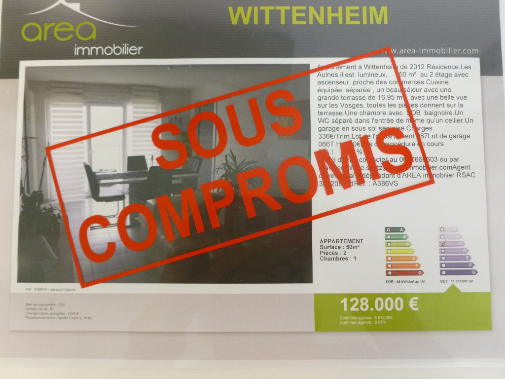 Achat Vente : APPARTEMENT à acheter à WITTENHEIM (68270)