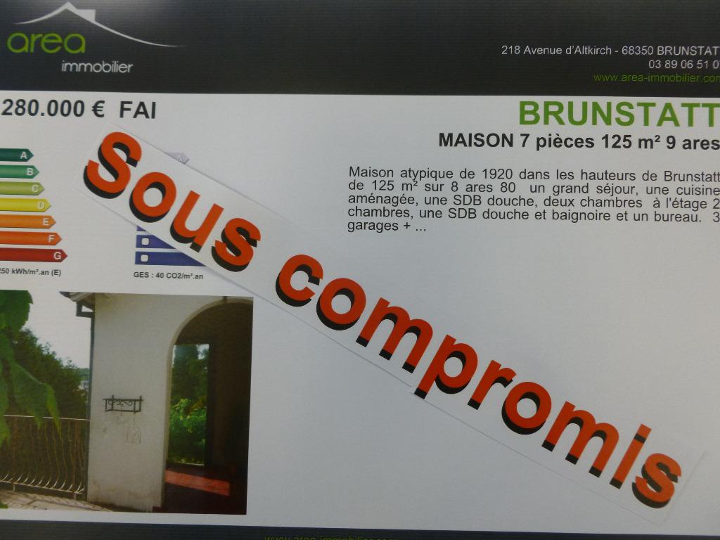 Achat vente maison de 7 pi ces brunstatt 68350 for Achat surface atypique