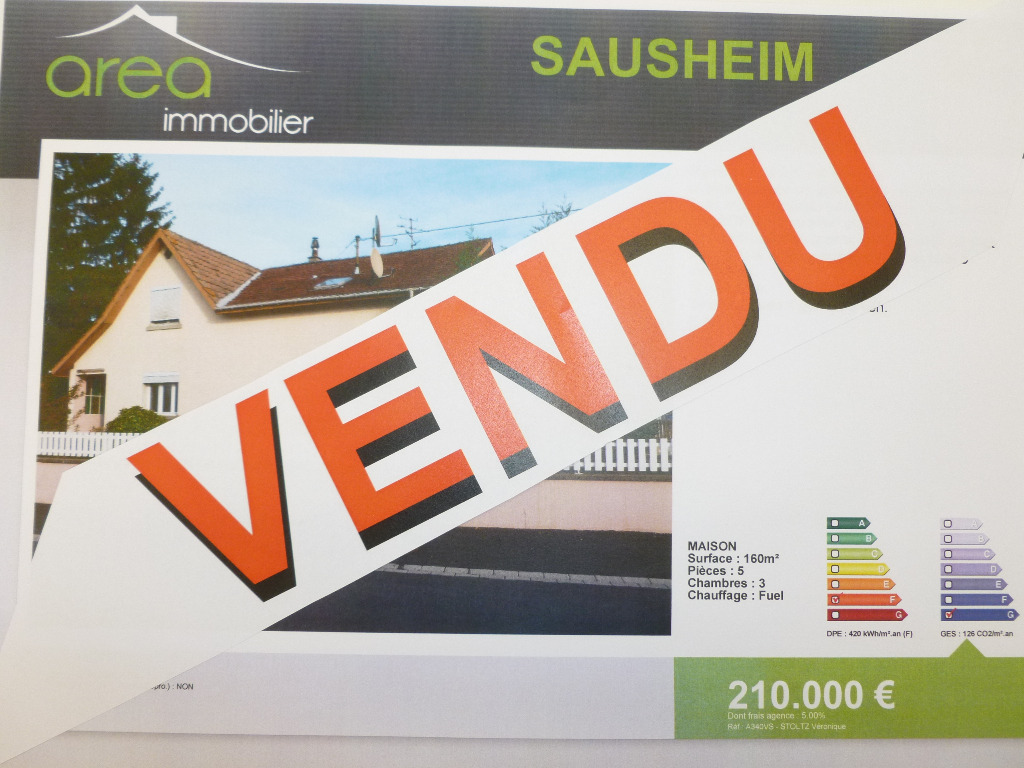 Achat vente maison de 5 pi ces sausheim 68390 en for Achat maison zone geographique